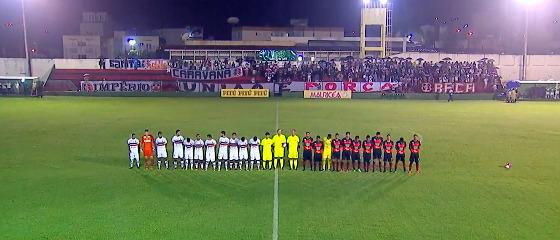 Pernambucano 2018, 8ª rodada: Flamengo 1 x 1 Santa Cruz. Crédito: Globo Nordeste/reprodução