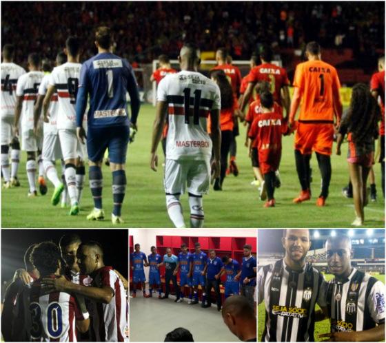 Jogos da 11ª rodada do Estadual 2018: Sport 1 x 1 Santa Cruz (Ricardo Fernandes/DP), Belo Jardim 2 x 2 Náutico (Léo Lemos/Náutico), Vitória 0 x 2 Vitória (Vitória/instagram), Central 2 x 1 Salgueiro (Central/instagram)