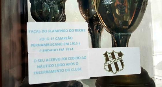 O Museu do Flamengo do Recife, dentro do Museu do Náutico. Foto: Cassio Zirpoli/DP