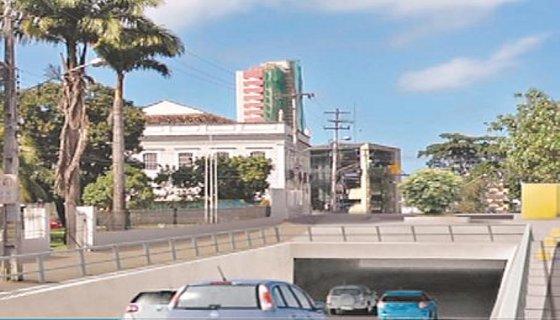 Túnel Caxangá - Maquete/Secretaria das Cidades