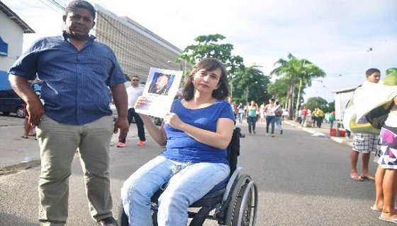 cadeirante protesto - foto Bruna Monteiro DP/D.A.Press
