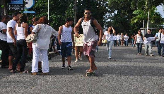skatista protesto foto - Bruna Monteiro DP/D.A.Press