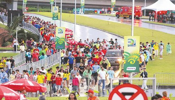 Torcedores Arena Pernambuco - Foto - Paulo Paiva DP/D.A.Press