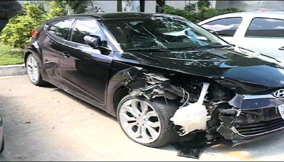 Carro usado no atropelamento - Foto - Reprodução/ TV Clube