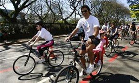 Raí pedalando - reprodução/ arquivo pessoall