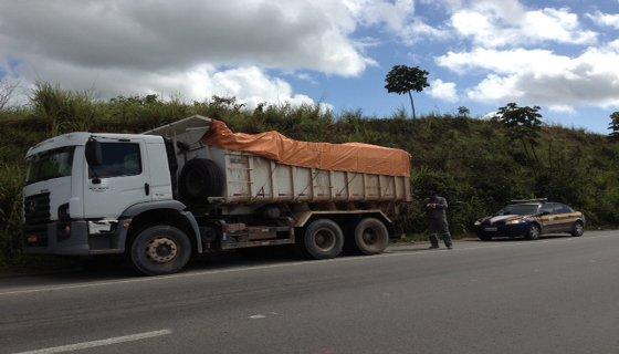 Caminhões de carga - Foto - PRF/Divulgação