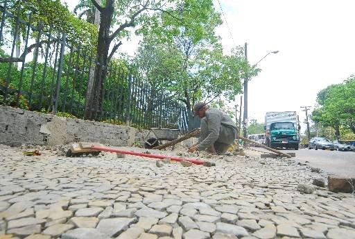 Pedras mineiras no Recife - Foto - Bruna Monteiro Esp.DP/D.A Press