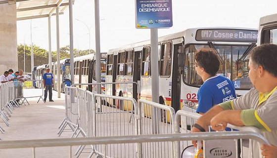 Ônibus Arena - Foto - Paulo PaivaDP/D.A.Press