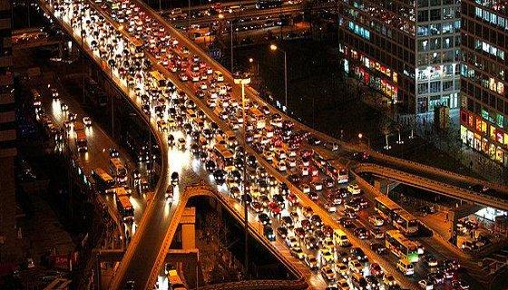 Engarrafamento na China