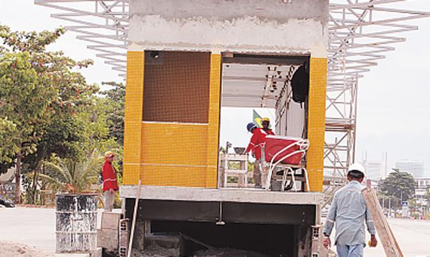 Uma das estações do BRT em Obras - Foto - Nando Chiappetta