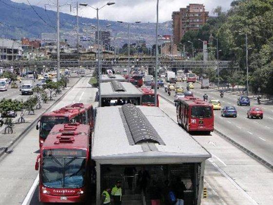 Em Bogota, o BRT recebeu o nome de Transmilênio - Foto - Tânia Passos DP/D.A.Press