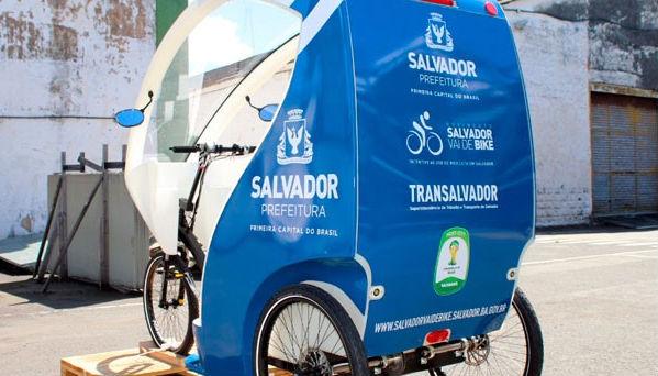 Triciclo  velo-táxi de Salvador - Foto - Prefeitura de Salvador/Divulgação