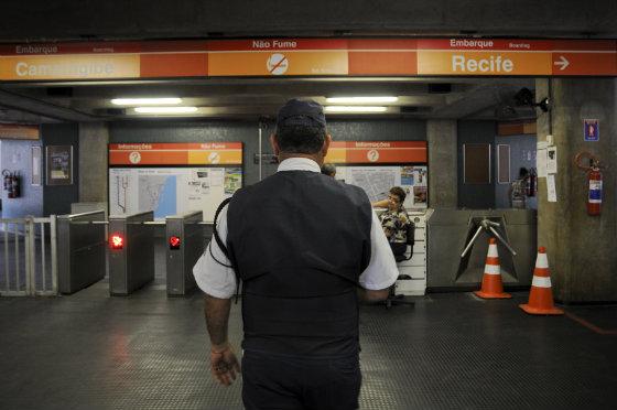 Estação Werneck do metrô, Linha Centro, Recife - Foto Guilherme Veríssimo DP/D.A.Press