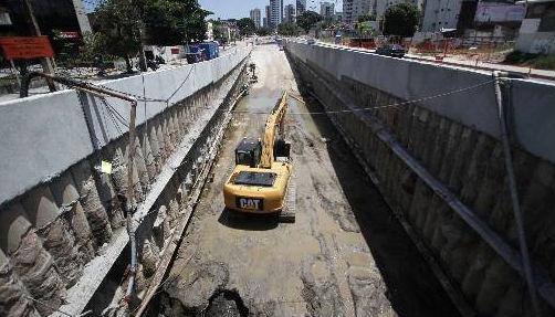 Obras no Túnel da Abolição no corredor Leste/Oeste Foto - Alcione Ferreira DP/D.A.Press