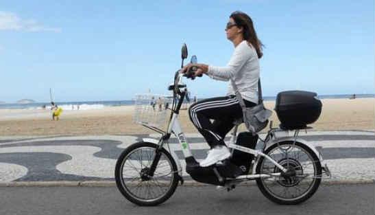 Pelo projeto, são igualadas às bicicletas comuns aquelas que tenham velocidade de até 25km/h Foto - Reprodução/internet