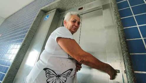 Elevador do TI Tancredo Neves fica desligado a maior parte do tempo Foto Annaclarice Almeida DP/D.A.Press