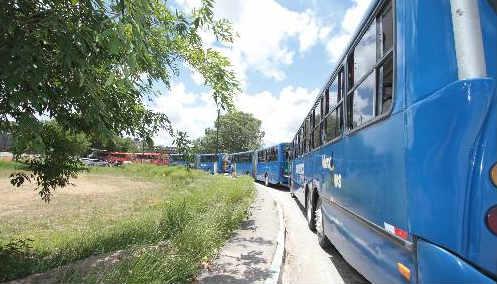 Sem ampliação no Terminal de Igarassu, os ônibus fazem fila do lado de fora do terminal Foto Annaclarice Almeida DP/D.A.Press