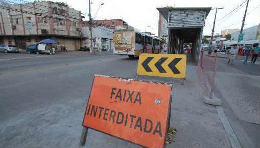 Paradas convencionais na Conde da Boa Vista para o BRT só em 2015. Foto Annaclarice Almeida DP/D.A.Press