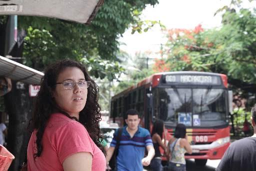 A estudante Thâmara Morais faz duas integrações  por dia Foto - Alcione Ferreira DP/D.A.Press