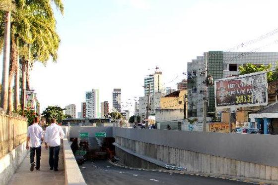 Túnel da abolição deverá ser aberto ao tráfego. Foto Paulo Trigueiro DP/D.A. Press