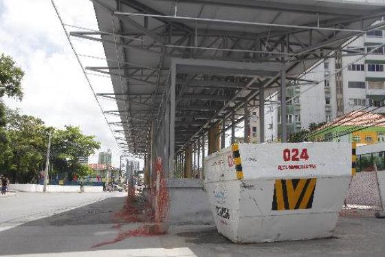 Estação da Benfica do corredor Leste/Oeste em obras - Gustavo Glória Especial DP/D.A.Press
