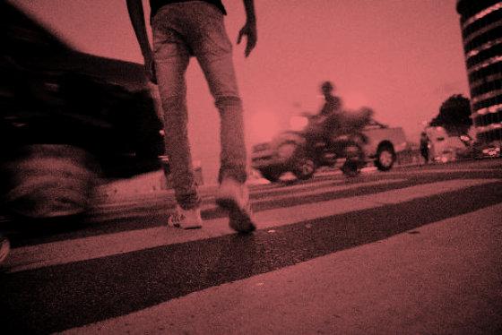 Faixa de pedestre no Centro do Recife. Foto - Guilherme Veríssimo DP/D.A.Press
