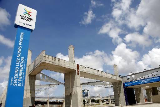 Terminal da 3ª Perimetral em obras Foto: Gustavo Glória Especial DP/D.A.Press