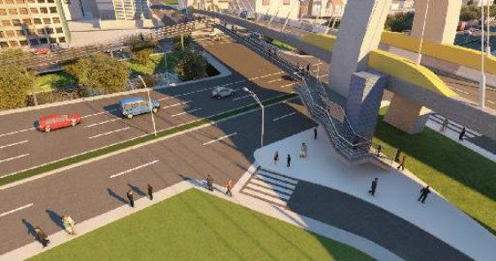 Projeto dos viadutos na Agamenon foi abortado pelo estado por pressão dos moradores Crédito: Secretaria das Cidades/Divulgação