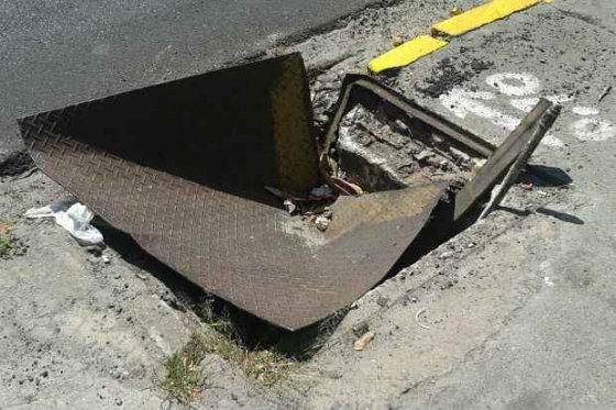 O acidente aconteceu em frente ao Supermercado Bompreço.Foto: Ricardo Lima/ Reprodução/ WhatsApp