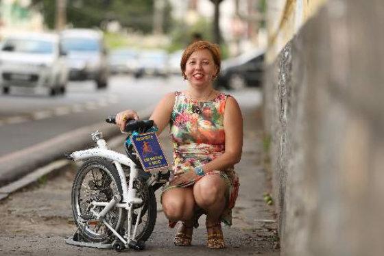 Erika  Pêssoa  Aproveita a praticidade do equipamebto - Foto Hesiodo Goes - DP/D.A.Press