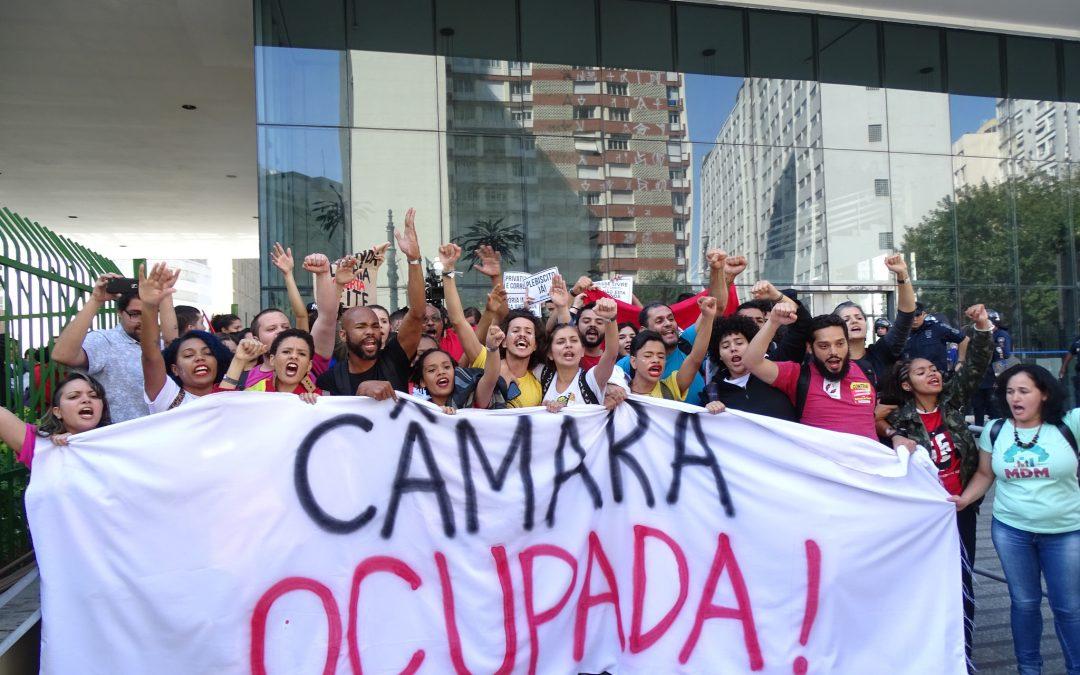 Estudantes encerram ocupação na Câmara dos Vereadores de SP