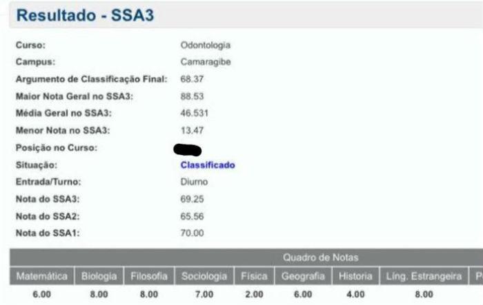 Candidatos do SSA 3 da UPE acessam resultado um dia antes da divulgação do listão