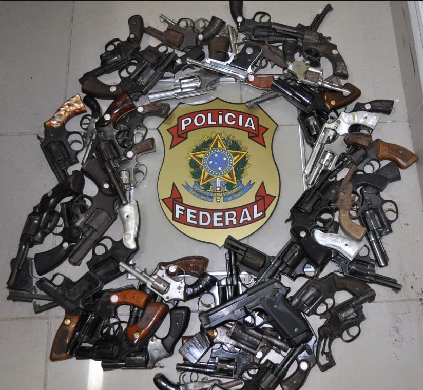 Total de armas foi recolhido de maio a novembro. Foto: Polícia Federal/Divulgação