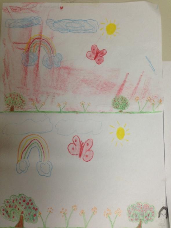 Desenhos feitos pelas crianças. Foto: Igor Leite/Divulgação
