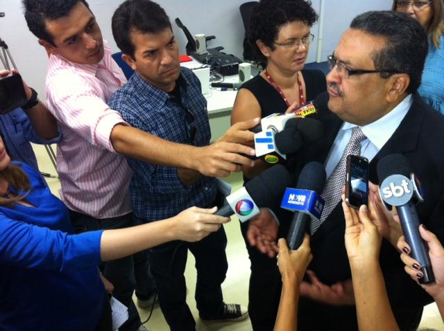 Damázio apresentou a campanha nesta quarta. Foto: Wagner Oliveira/DP/D.A Press