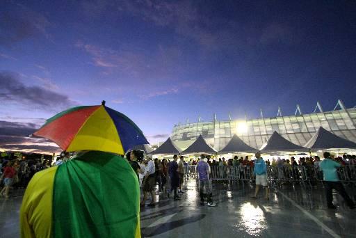 Apenas seis registros policiais foram feitos na Arena. Foto: Paulo Paiva/DP/D.A Press