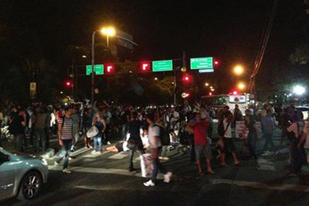 Estudantes já foram às ruas na noite de ontem. Foto: Tiago Barbosa/DP/D.A Press