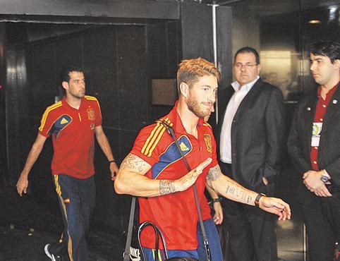 Seleção da Espanha ficou hospedada em Boa Viagem. Foto: Paulo Paiva/DP/D.A Press