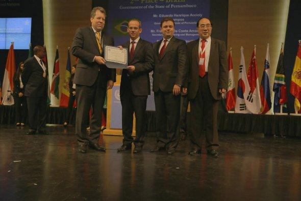 Prêmio foi recebido no Bahrein. Foto: Governo do estado/Divulgação