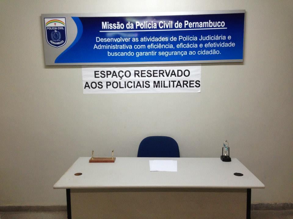 PMs têm área reservada para fazer B.Os. Foto: Igor Leite/Divulgação