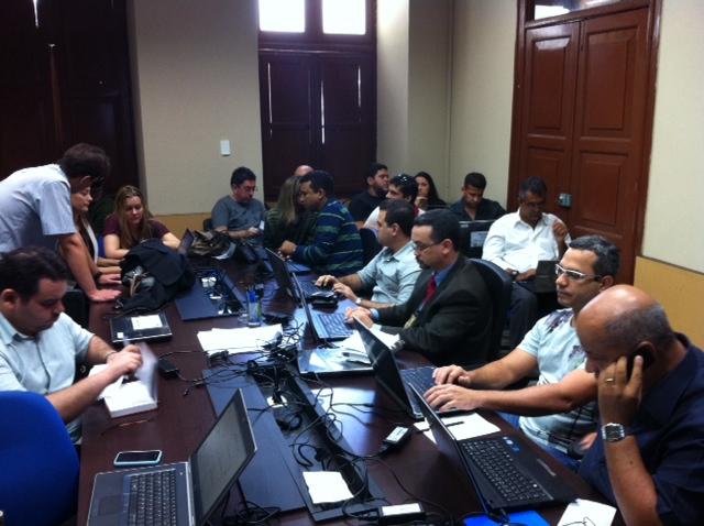 Policiais participaram de capacitação. Foto: Wagner Oliveira/DP/D.A Press