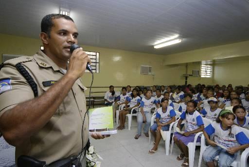 PMs farão palestras nas escolas. Foto: Ines Campelo/DP/D.A Press