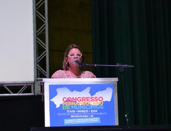 Anúncio foi feita pela secretária Danielle Foto: Ivan Nascimento/Prefeitura do Ipojuca