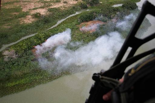 Do helicóptero, policiais identificaram plantações