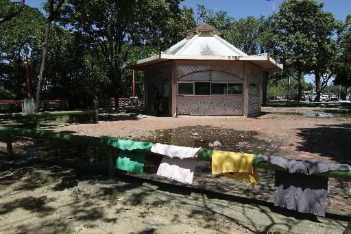 Obras no quiosque já foram iniciadas. Foto: Alcione Ferreira/DP/D.A Press