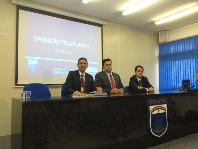 Delegados apresentaram caso em coletiva. Foto: Wagner Oliveira/DP/D.A Press