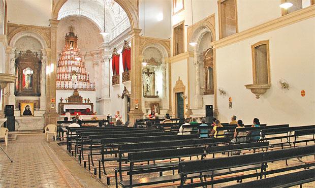 Crime acontecia nos bancos da igreja do Divino Espírito Santo. Foto: Débora Rosa/Esp.DP/D.A Press