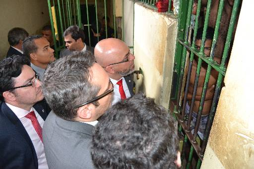 Membros da comissão conversaram com presos. Fotos: Liniker Xavier/Divulgacao
