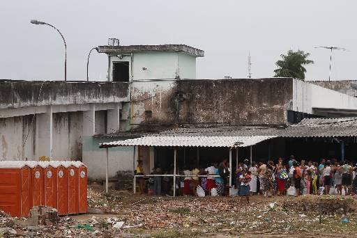 A nova estrutura para os parentes dos presos deve ficar pronta em três meses. Foto: Julio Jacobina