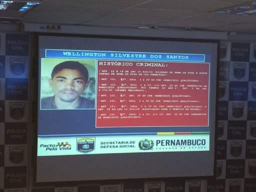 Wellington Silvestre dos Santos, um dos executores, está foragido